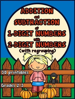 Adding and Subtracting 1-Digit Numbers with 2-Digit Number