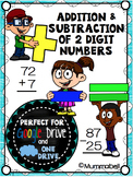 Addition & Subtraction of 2-digit Numbers - a DIGITAL Google Drive resource