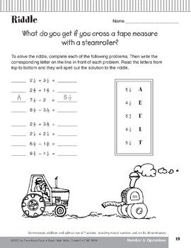 Addition & Subtraction of Fractions