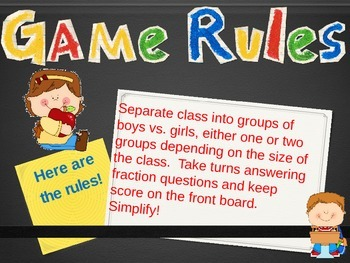 Addition & Subtraction of Fractions Review Fun Powerpoint Game