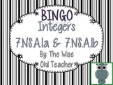 Addition & Subtraction of Integers Bingo PPT with Blank Cards 7.NS.A.1