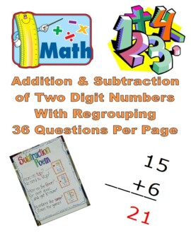 Addition & Subtraction of Two Digit Numbers with Regrouping Pack