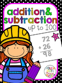 Addition & Subtraction to 100 Math Unit (Projectable Lessons)