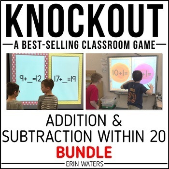 Addition & Subtraction to 20 Game | Knockout | Bundle | Distance Learning