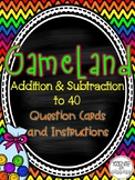 Addition & Subtraction to 40 GameLand
