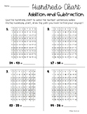 Addition / Subtraction using the Hundreds Chart (100's Chart and 200's Chart)