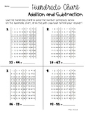 Differentiated Addition / Subtraction with Hundreds Chart - Place Value Base Ten