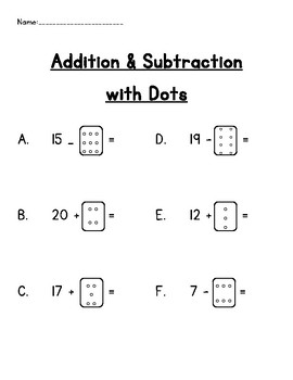 Addition & Subtraction with Dots
