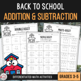 Addition & Subtraction with Regrouping Activities - Back t