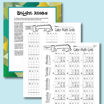 Addition &  Subtraction with Regrouping Daily Practice