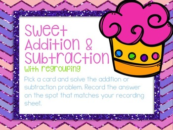 Addition & Subtraction with Regrouping Task Cards