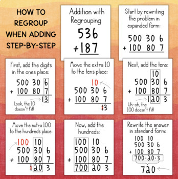 Addition & Subtraction with Regrouping Using Expanded Form