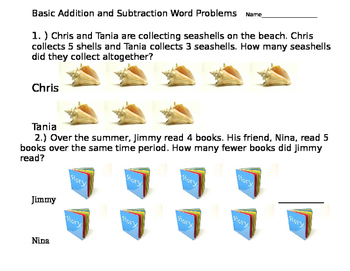 Addition / Subtraction with visual support