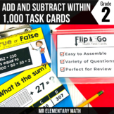 Addition and Subtraction within 1000 Task Cards 2nd Grade Math Centers
