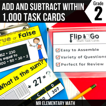 Addition & Subtraction within 1000 - 2nd Grade Math Flip a