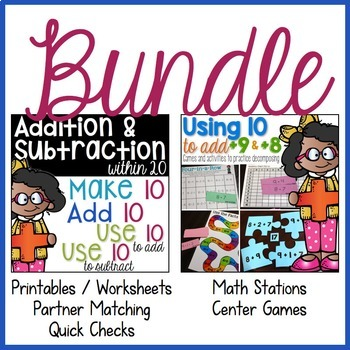 Addition & Subtraction within 20 BUNDLE