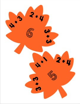 Addition & Subtraction Clip Cards: Fall/Autumn Edition