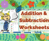 12 Colorful Printable Addition And Subtraction Worksheets