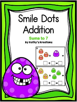 Addition Sums To 7 -Smile Dots FREE