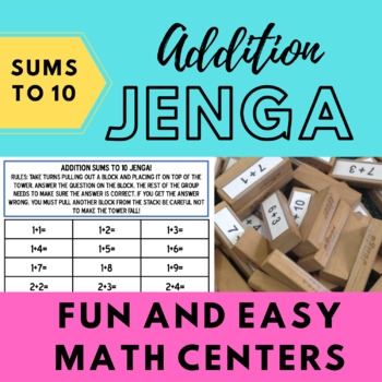 Addition (Sums to 10) Jenga!