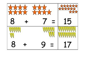 Addition Sums to 18 Match game
