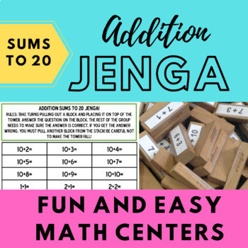 Addition (Sums to 20) Jenga!