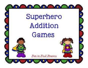 Addition Super Hero Games
