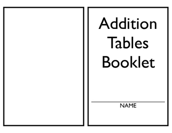 Addition Table 1-10 Book