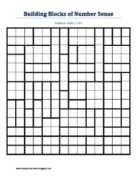 Addition Table Puzzles