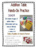 Addition Table Set--Activities, Puzzles, and Worksheets--Differentiated CCSS
