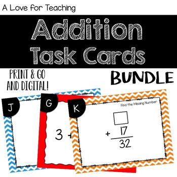 Addition Task Card BUNDLE {Digital}