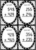 Addition Task Card Bundle - 4 sets!  2 and 3 Digits With and Without Regrouping!