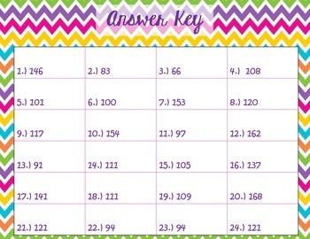 Addition Task Cards 2 Digit + 2 Digit