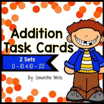 Addition Task Cards {2 Sets}