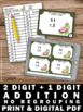 2 Digit by 1 Digit Addition Without Regrouping Task Cards 1st Grade Math Review