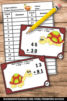 Double Digit Addition Without Regrouping Game, 2nd Grade Math Review SCOOt