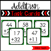 Addition Task Cards {2 digit & no regrouping} Christmas Themed