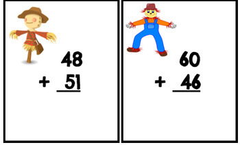 Addition Task Cards (2-digit without regrouping)