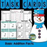 Winter Basic Addition Facts Task Cards and Recording Sheets