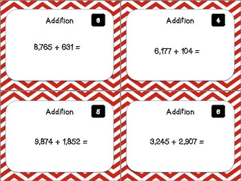 Addition Task Cards