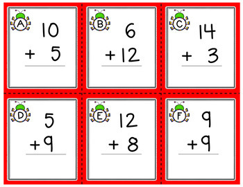 Addition Task Cards (Sums to 20)