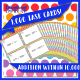Addition Task Cards, Adding within 10,000 Task Cards