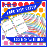 Addition Task Cards, Adding within 10 Task Cards