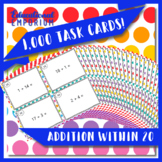 Addition Task Cards, Adding within 20 Task Cards