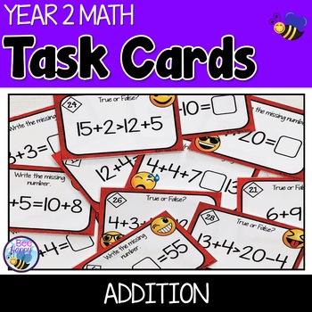 Addition Task Cards Australian Curriculum Year 2