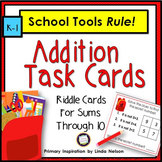 Addition Through 10 Math Riddle Task Cards