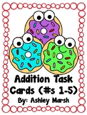 Addition Task Cards (Donut Visuals)