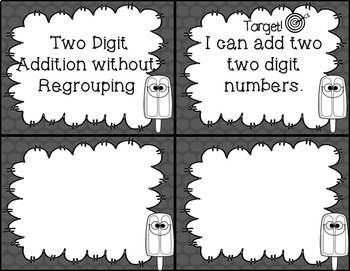 Addition Task Cards - Double Digit WITHOUT Regrouping