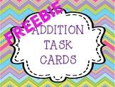 Addition Task Cards FREEBIE