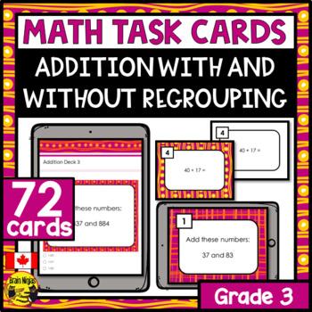 Addition Task Cards Grade 3